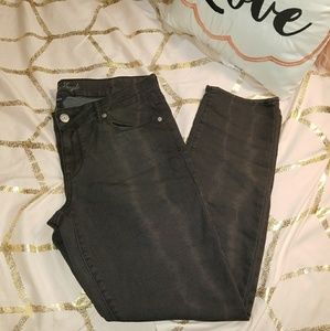 American Eagle Black Purple Acid Wash Jean SZ 14